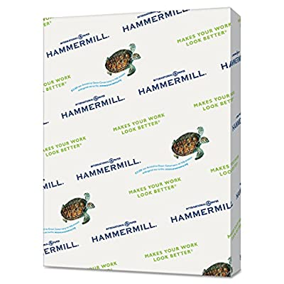 Hammermill 102269 Recycled Colored Paper, 20lb, 8 1/2 x 11, Lilac, 500 Sheets/Ream