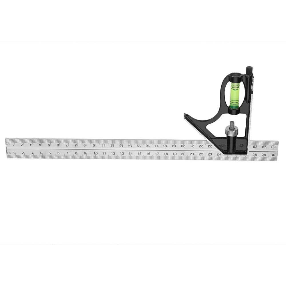 combinaci/ón Ajustable de Metal de 12 Pulgadas Regla de /ángulo Recto Herramienta de medici/ón del Ingeniero Wytino Regla de /ángulo Recto 300 mm
