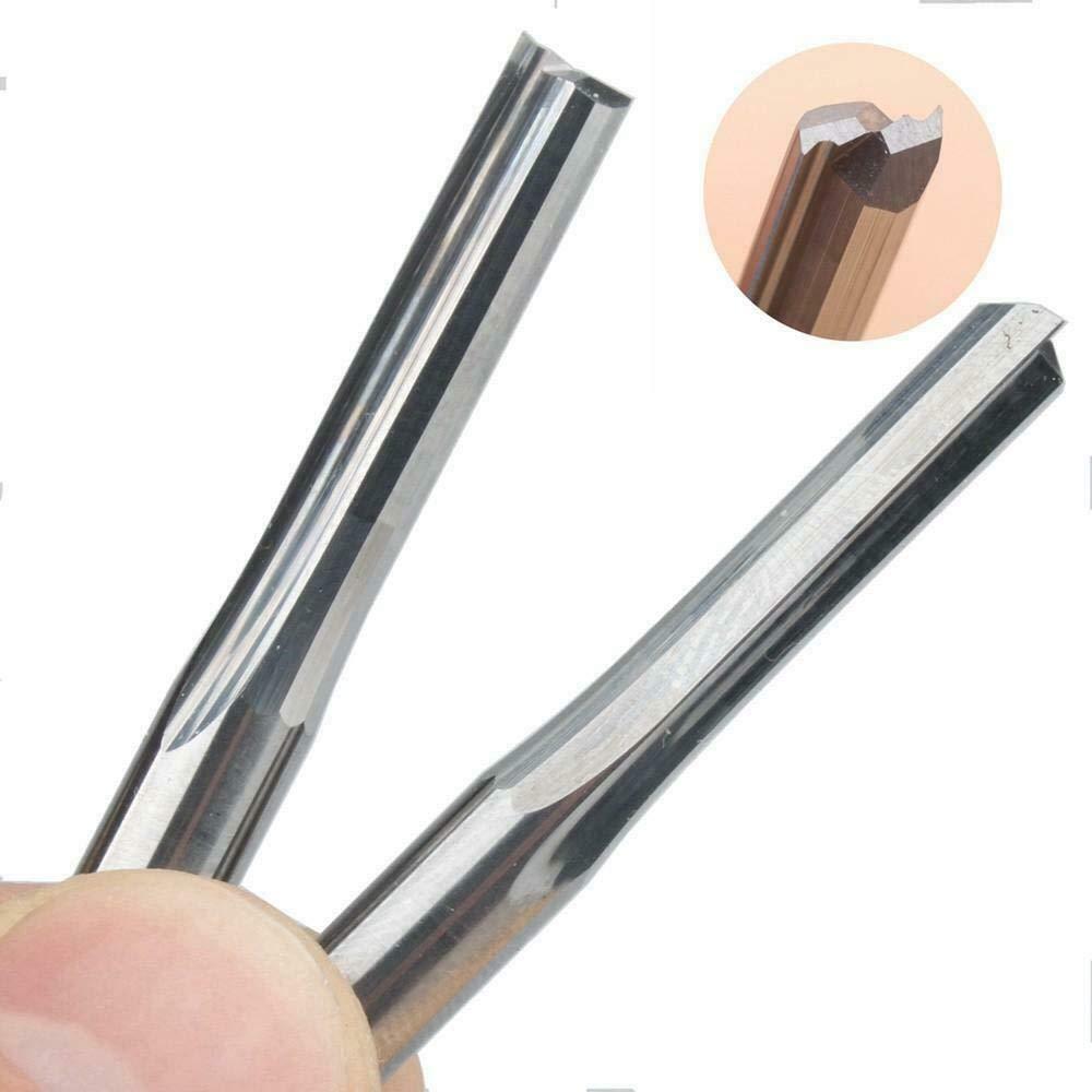 EU/_HOZLY 6 mm CED Long CEL Straight Slot Bit Holzschneider CNC Solid Hartmetall Fr/äser Bit 2 St/ück