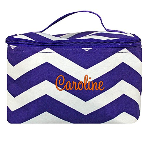 Purple Personalized Cosmetic Bag - 3