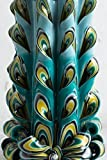 Big Peacock Tail Feather - Decorative Carved Candle - Modern Wall Handmade Decor - EveCandles