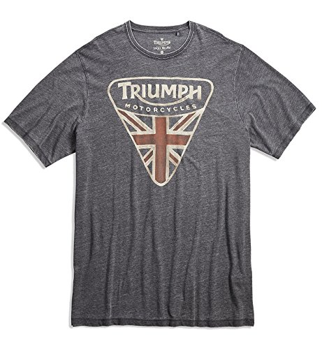 Lucky Brand Men's Big & Tall Triumph Motorcycle British Flag Badge (3X-Large Regular, Black)