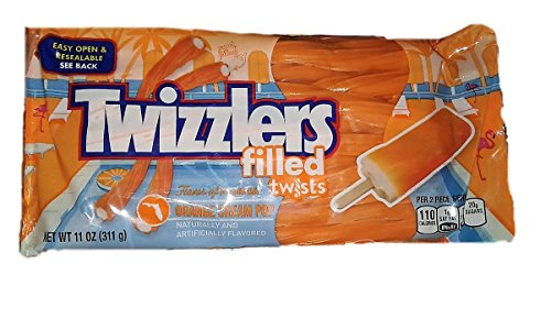 NEW Twizzlers Filled Twists! Orange Cream Pop Flavored Filling! One 11 Ounce Pack!