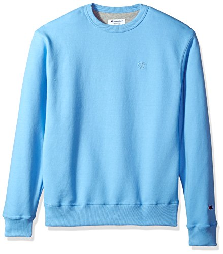 Champion Men's Powerblend Fleece Pullover Sweatshirt, Swiss Blue, 2X Large