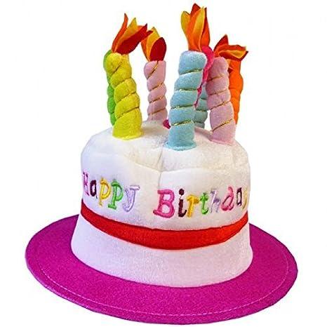Adulti Novita Torta Di Compleanno Cappello Rosa Amazon It Giochi E