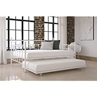 Home McCarthy Metal Daybed with Trundle (Full Size White)