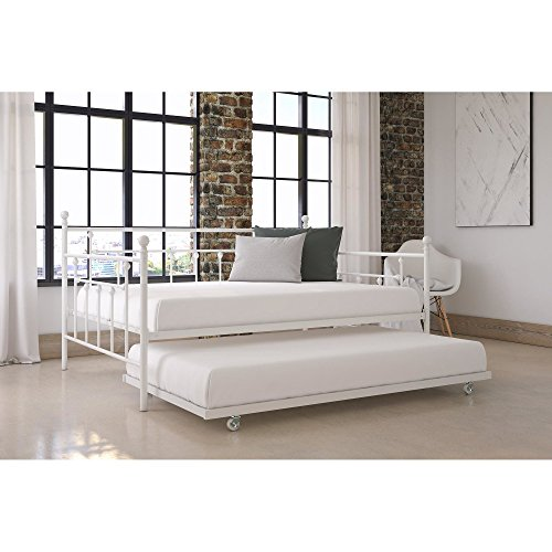 McCarthy Home Metal Daybed with Trundle (Full Size White)