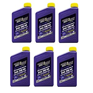 Royal Purple API Licensed Enhanced Additive Technology Synthetic Motor Oil 5W40 - Fuel Efficiency - 1 qt (Case of 6)