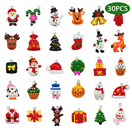 kockuu 30pcs Christmas Mini Ornaments - Resin Ornaments for Mini Christmas Tree Decorations (Decorations Tree Miniature)