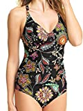 Best Fantasie Bathing suits - Fantasie Kerala Convertible One-Piece, 36E, Black Floral Review