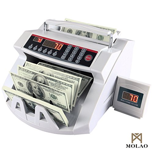 Money Cash Counting Bill Machine Counterfeit Detector Currency UV & MG Bank New