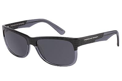 Amazon.com: Porsche Design P8546 Gafas de sol, carbono/azul ...