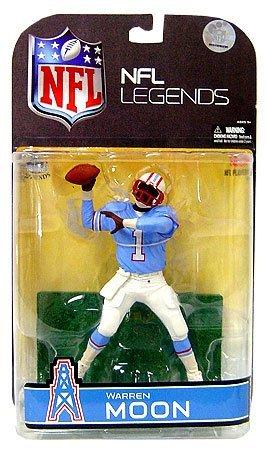 McFarlane Toys NFL Sports Picks Legends Series 4 Action Figure Warren Moon (Houston Oilers) Blue Sleeves Variant