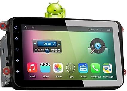 MGNav MG2802V Android 4.4.4 Radio para Coche VW (20,3 cm (20.32 cm) usando Internet navegador Multimedia (DVR, BT, USB, SD, GPS, OBD, PDC) (Importado): Amazon.es: Electrónica