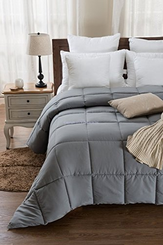 Super Oversized - Down Alternative Comforter - Fits Pillow Top Beds - Queen 92'' x 96'' - Gray - Exclusively by BlowOut Bedding RN #142035 by Web Linens Inc (Image #6)