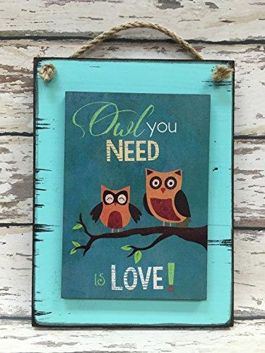 - OWL LOVE Sign Reclaimed