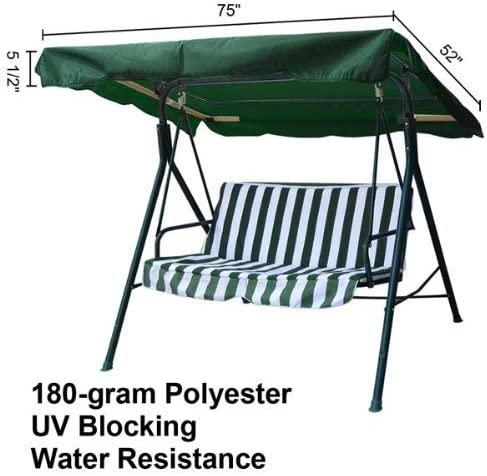 AV Prime Inc. Fashionable Green Swing Canopy Replacemnt 6.37ft