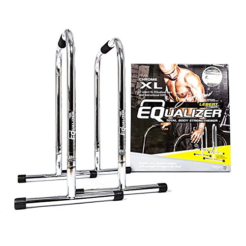 Lebert Fitness Equalizer Bars Total Body Strengthener  Xl  Frank Medrano Signature  Chrome