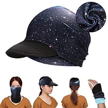 Hotsung Yoga Headband Women Headwrap with Sun Protetive Soft Visor Brim for Running//Hiking//Fitness//Outdoor Sport