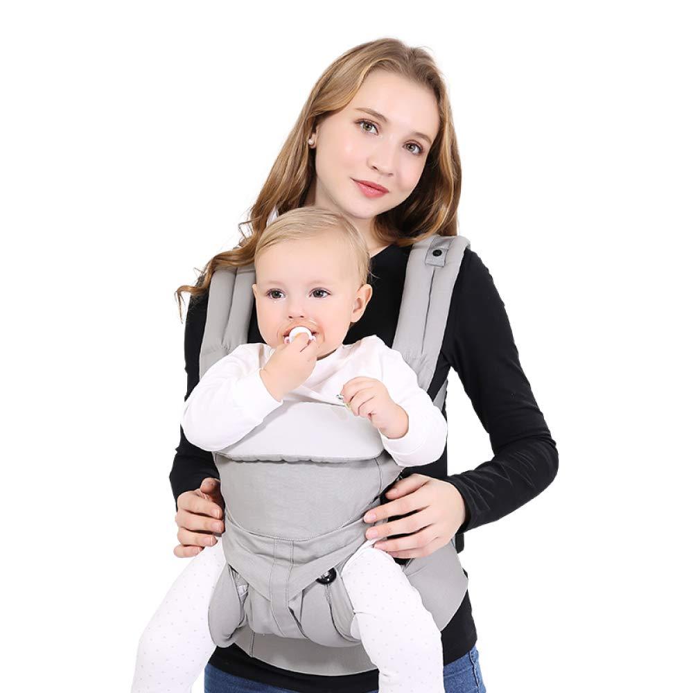 SBL Cabestrillo Frontal para Bebés, Honda para Niños Recién Nacidos Bebé Cuatro Estaciones Universal Multifunción 0-3 Años Artefacto Bebé,Gris,UNA