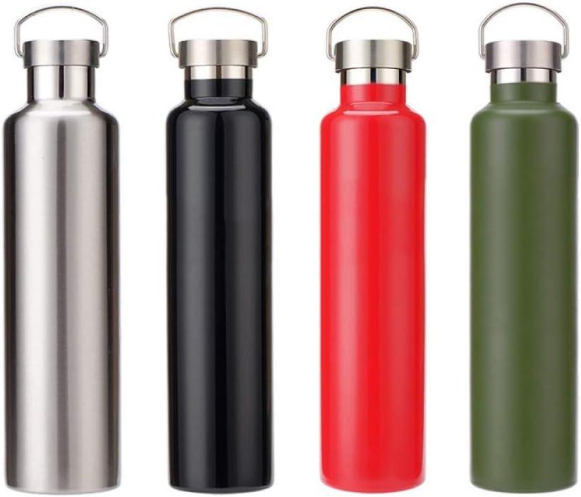 1 pz. Frasco de vacío de Acero Inoxidable de 1000 ml con Aislamiento al vacío Botella Deportiva |dosis de Vacuna