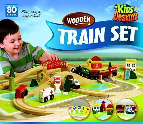 Deluxe Wooden Train Set -...