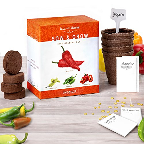 Grow 4 Pepper Varieties From Seed - Cayenne Pepper,