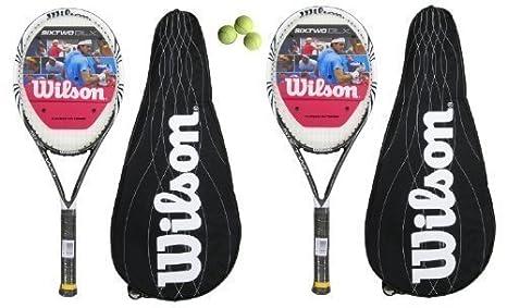Amazon.com: 2 x Wilson Court Zone Tennis Rackets + 3 Tennis ...