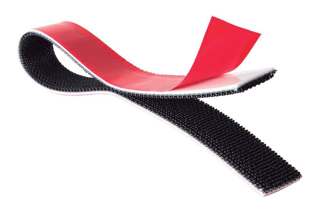 Velcro Brand ALFA-LOK Reclosable Fastener, Black, 1'' W (Mated) with SilverTape GP11W General Purpose (10FT)