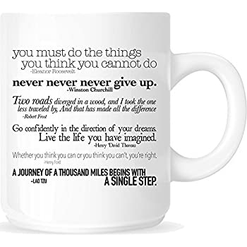 Amazoncom Inspirational Quotes 11oz Ceramic Coffee Mug White