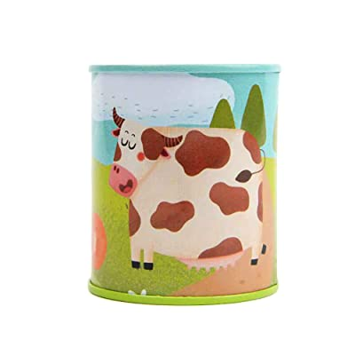 Classic Animal Sound Noise Maker Cow Print Tins Sound Toy Complete Party Set Bundle Simulation Sound Toy: Toys & Games