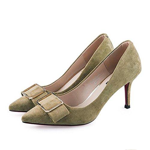Feifei Women's Shoes Summer Fashion Bow Tie High-Heeled 8CM Shallow Mouth High-Heeled Shoes Single Shoes 01 xwKCetGzV