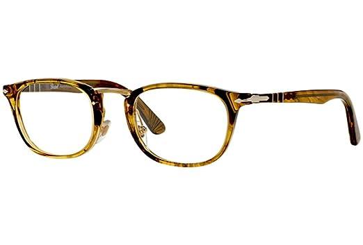 1d7b2171ff Persol PO 3126V 1021 Eyeglasses Stripped Light Brown at Amazon Men s ...