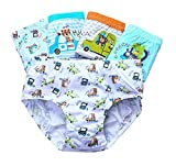 CHUNG Little Boys Toddlers Cotton Briefs Underwear 5 Pack, Animal My Car, 5-6Y
