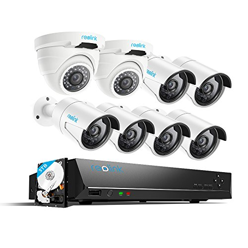 Price comparison product image Reolink 4MP 16CH PoE Video Surveillance System,  6 Bullet & 2 Dome Wired Outdoor 1440P PoE IP Cameras,  5MP / 4MP Supported 16 Channel NVR Security System w / 3TB HDD for 7 / 24 Recording RLK16-410B6D2