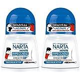 Narta - Déodorant Homme Bille Anti-Transpirant Impeccable Efficacité 48h - 50 ml - Lot de 2
