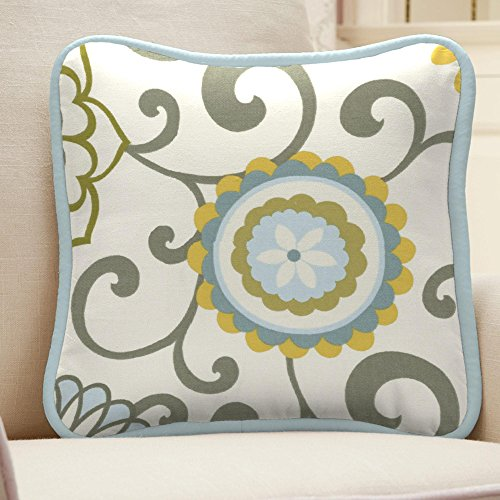 Carousel Designs Spa Pom Pon Play Decorative Pillow Square by Carousel Designs
