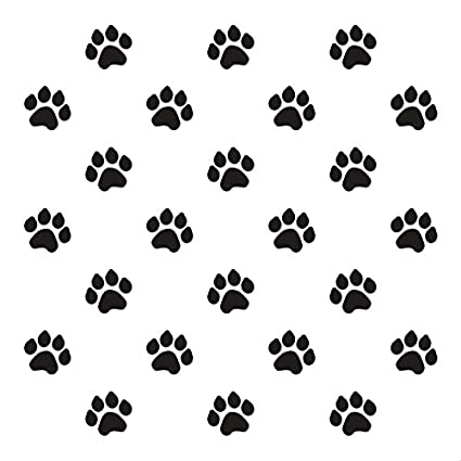 amazon com paw prints stencil by studior12 animal fun repeating