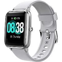 YONMIG Smartwatch, fitnessarmband, tracker, volledig touchscreen, waterdicht IP68, polshorloge, smart watch met…