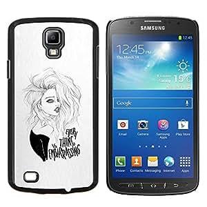 LECELL--Funda protectora / Cubierta / Piel For Samsung Galaxy S4 Active i9295 -- la chica sexy --