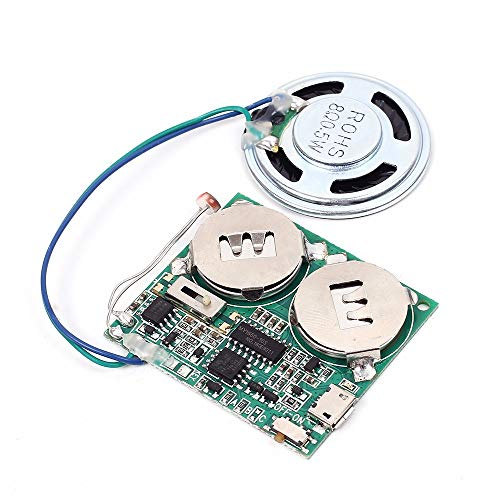 Icstation DIY Light Sensor Sound Module Micro USB Music Player for Talking Greeting Card Creative Gifts 8M Memory w/Speaker (Programable Usb)
