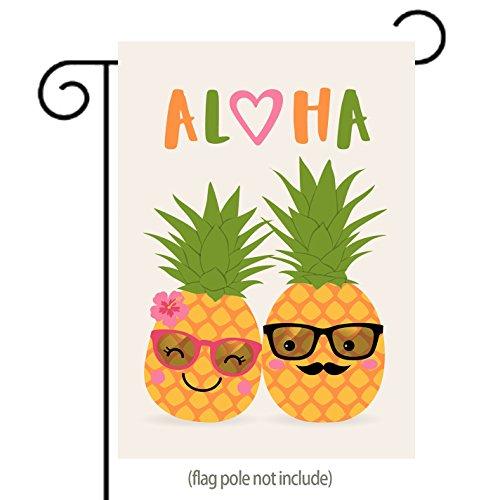 Aloha Couple Pineapples Garden Flag for Couple, Lovers or We