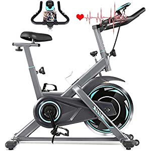 51RwgqjaAvL. SS300 Profun Fit Bicicletta Spinning Bike Cyclette Fitness Cardio Allenamento Casa Ciclismo Corsa Macchina Uomo Donna Display…