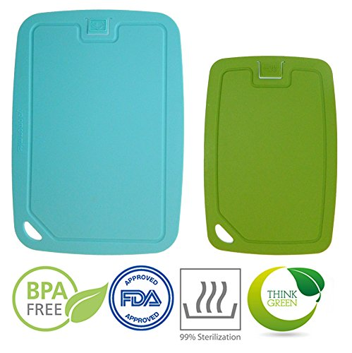 Cutting board set flexible antimicrobial and sturdy dishwasher safe: light and easy (Light Marble Wall Washer)