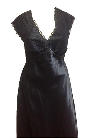 932aad220319d Ladies Plus Size Satin Nightdress Black Size 26: Amazon.co.uk: Clothing