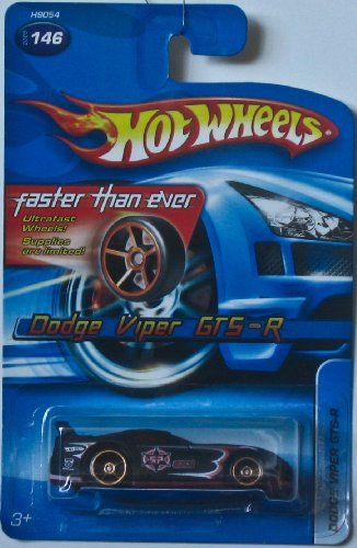 hot-wheels-2005-146-dodge-viper-gts-r-fte-164-scale-faster-than-ever-black