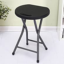 Folding Stool Round Bench Plastic Portable Stool Folding Chair Home Bar Stool Simple Outdoor Thickening ( Design : 6 )