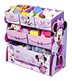 Cute Fun and Exciting Disney Minnie Mouse Storage Toy Box Containers and Chest Organizer Bins for Kids Pet Toys, Cars and Accessories - Children Home Box Units Solutions