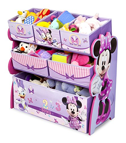 Cute Fun and Exciting Disney Minnie Mouse Storage Toy Box Containers and Chest Organizer Bins for Kids Pet Toys, Cars and Accessories - Children Home Box Units Solutions (Cars Multi Bin Toy Organizer compare prices)