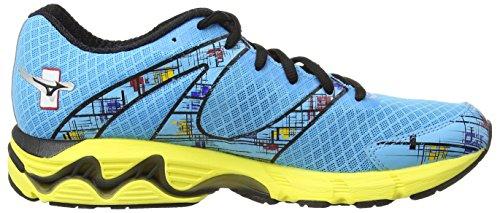 Bleu Mizuno Shoes Match Inspire 10 aquarius W Wave Women's Shoe aurora Running black U1xUqzwAF